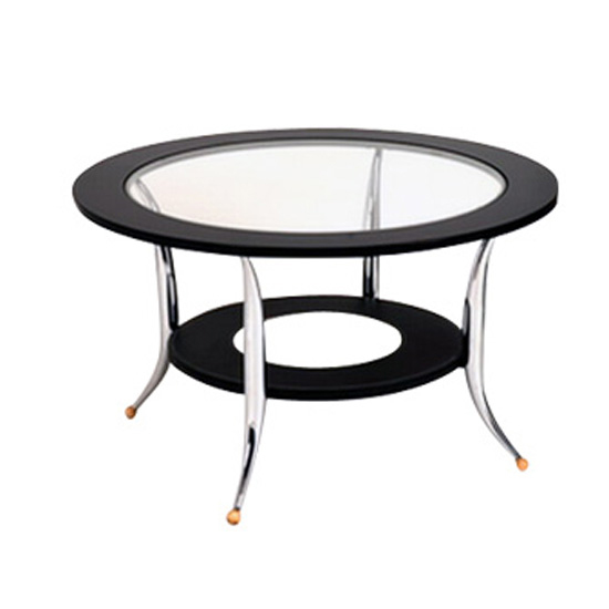 Black Glass Round Coffee Tables